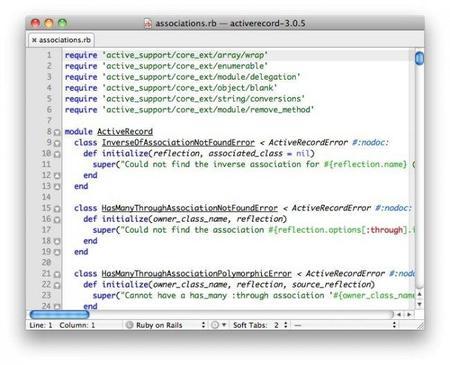 Editores de código: TextMate para Mac