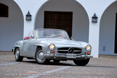 1961 Mercedes-Benz 190 SL Roadster (W121 II B), retroprueba