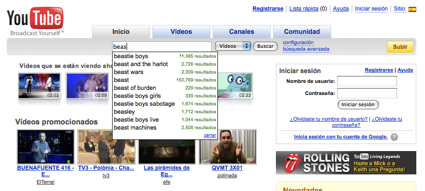 You Tube incorpora sugerencias a su buscador