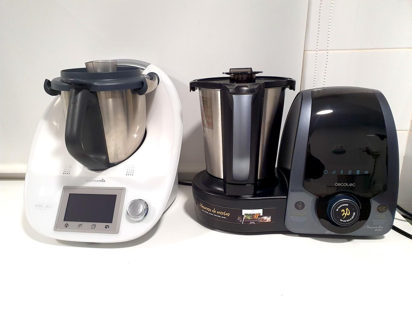 Cecotec Robot de Cocina Multifunción Mambo 8090. Capacidad 3,3L, Cuchara MamboMix, 30 Funciones, Báscula Incorporada, Jarra de Acero Inoxidable Apta