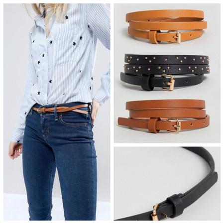 Pack de 3 cinturones New Look por 7,99 euros y envío gratis en Asos