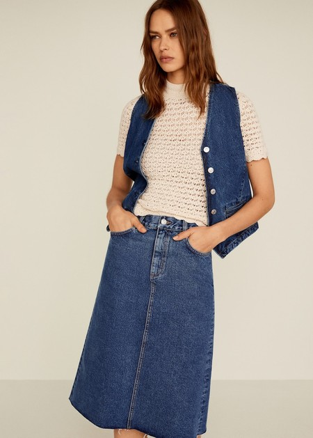 Falda midi denim