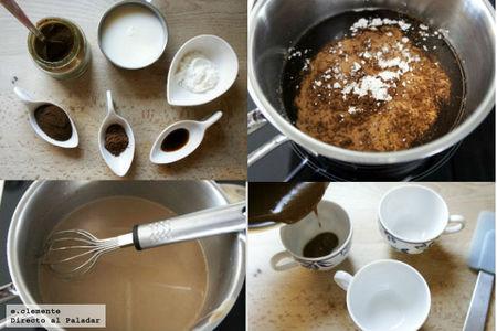 Paso a paso pudding café con leche