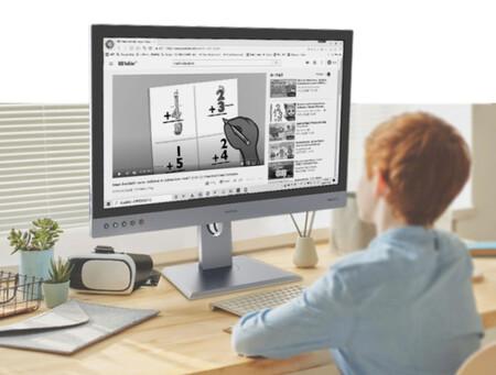 Nada de paneles OLED o LCD: con una pantalla de tinta electrónica, este monitor es único en su especie