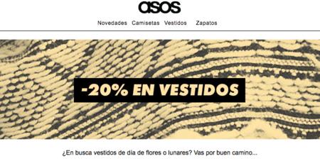 20% en vestidos primaverales de ASOS
