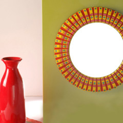 Foto 1 de 5 de la galería hazlo-tu-mismo-espejo-decorado-con-pinzas-de-la-ropa en Decoesfera