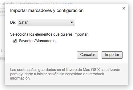 Importar Chrome