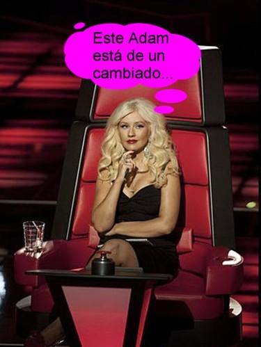 Cuando Christina Aguilera hila fino, hila fino de verdad