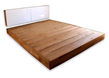 Una cama baja para el dormitorio pros y contras - Estructura cama individual ...