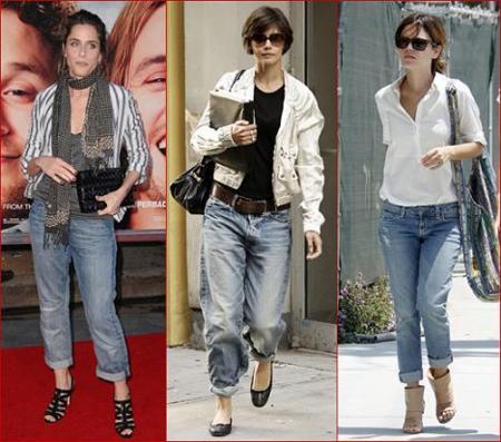 Sigue la moda boyfriend jeans