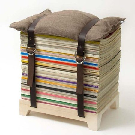 Hazlo tú mismo: un taburete con viejas revistas