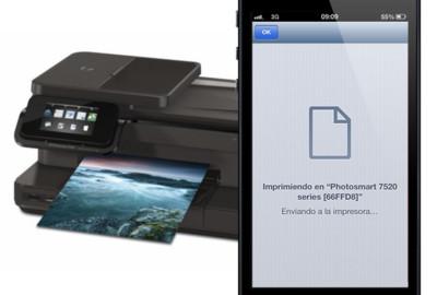 Impresión deslocalizada, utilizando AirPrint con iOS en una ubicación sin red Wi-Fi