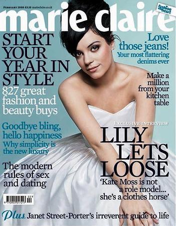 Lily Allen portada de Marie Claire