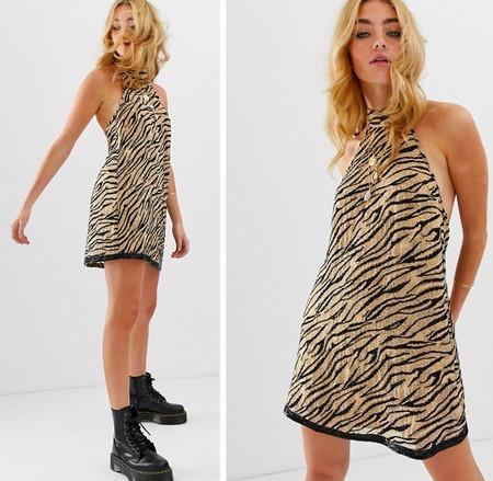 Vestido Tigre Mini Verano