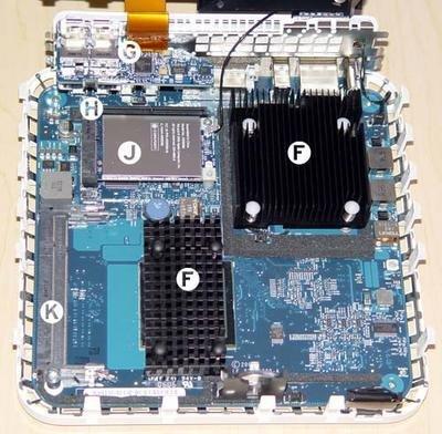 Mac Mini Intel por dentro