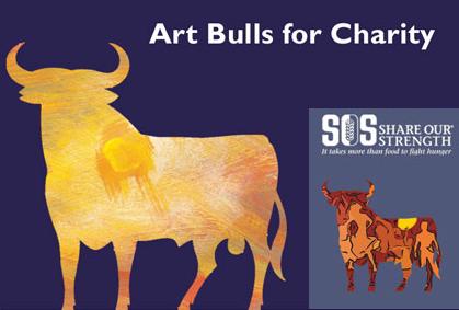 Art Bulls for Charity, iniciativa contra el hambre del Grupo Osborne