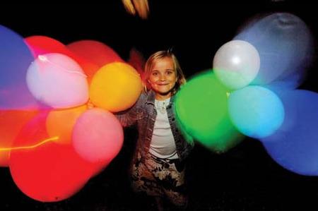 Globos con luz para fiestas infantiles