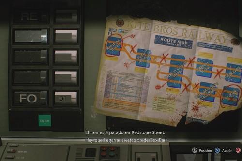 Guía de Resident Evil 3: solución al puzle del metro con el tren parado en Redstone Street