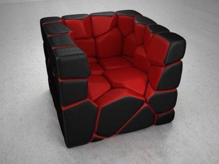 Vuzzle Chair, la butaca personalizable que me encantaría tener. Rojo