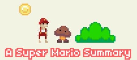 'A Super Mario Summary'. El gran 'Super Mario Bros.' en versión gratuita y reducido a su mínima expresión. Dadle un tiento