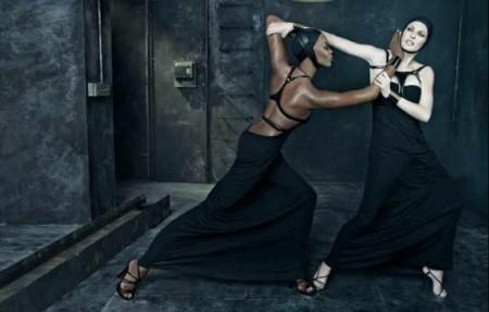 Dsquared2, campaña Primavera-Verano 2009 con Naomi Campbell y Linda Evangelista