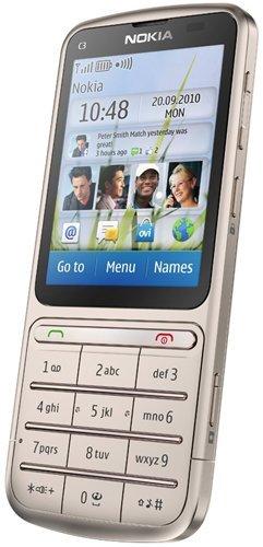 Nokia C3 Touch and Type, teclado convencional y pantalla táctil