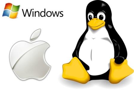 Apple Windows Tux logo