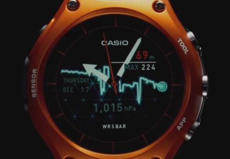 La batería del primer reloj inteligente de Casio tendrá una duración de un mes