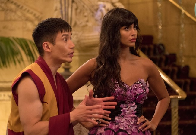 Manny Jacinto and Jameela Jamil The Good Place
