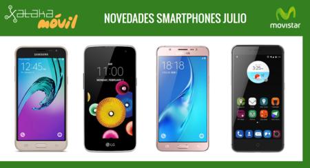 ZTE Blade V7, Samsung Galaxy J5 (2016), Galaxy J3 (2016) y LG K4 novedades con Movistar en julio y precios