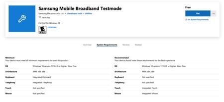 Samsung Mobile Broadband Testmode