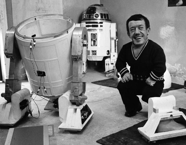 Kenny Baker Rd D2 Star Wars Rodaje Imagen