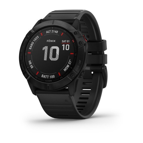 "Garmin Fénix 6X Pro Negro - 1.4"", Sensores ABC, Frec. Cardiaca, PacePro, Mapas, GPS, ClimbPro, WiFi"