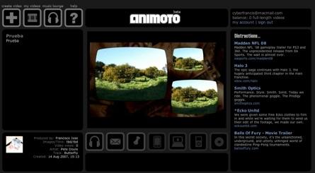 Animoto, creación de presentaciones de imágenes a lo video musical, disponible al público