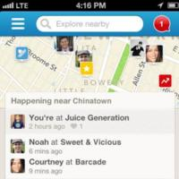 Foursquare prepara nueva versión para iOS: las búsquedas, protagonistas