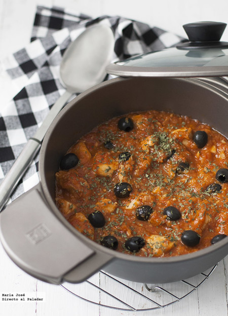 Receta de pollo con aceitunas a la provenzal
