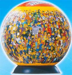 Puzzle esférico: El mundo de los Simpsons