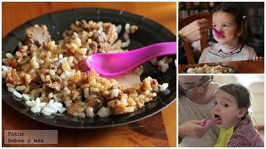 Arroz con higaditos de pollo. Una receta clásica en la alimentación de los más pequeños