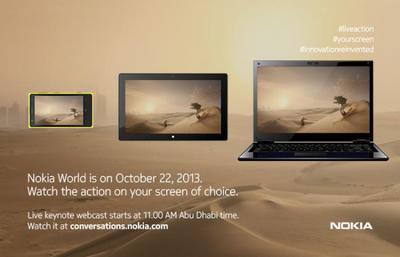 Seguimiento en directo del Nokia World 2013