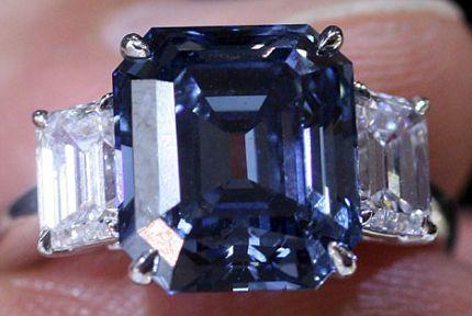 Un recien subastado diamante azul se convierte en la gema más cara