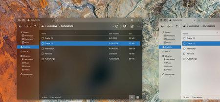 Un diseñador imagina el administrador de tareas y el explorador de Windows 10 con Fluent Design