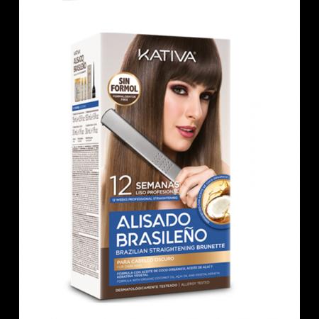 Kit Alisado Brasileno Kativa Brunette