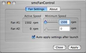 smcFanControl, aumentando la velocidad mínima de ventiladores del Macbook