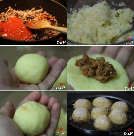 Cómo hacer bombas de patata
