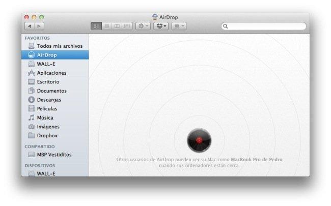 Activar AirDrop en todo Mac con OS X 10.7