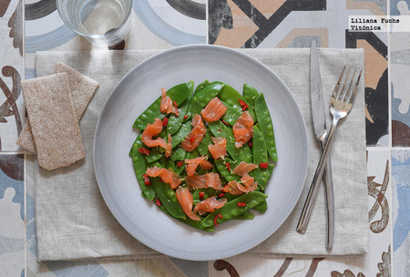 Tirabeques con Salmon