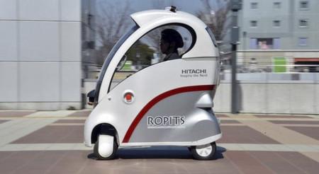 Ropits, el vehículo eléctrico con conducción autónoma de Hitachi