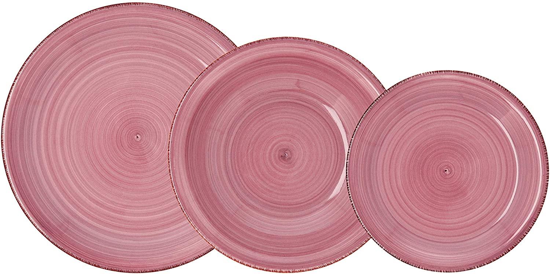 Quid Vajilla para 6 Personas, 18 Piezas, cerámica gres, Peoni, Vita