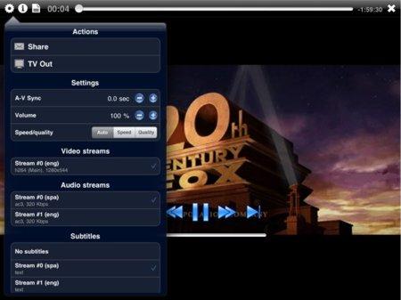 Elección de subtítulos y pista de audio