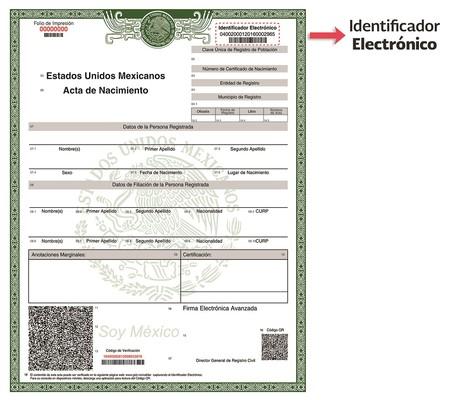 Acta Nacimiento En Linea Identificador Electronico